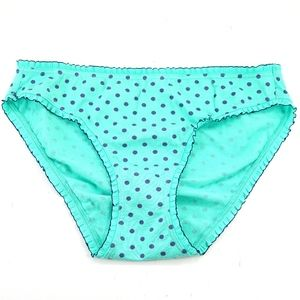 Victoria's Secret Green Polka Dot Bikini Pantie